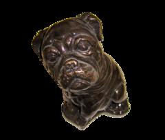 Bronze Style Bulldog Cast Stone Art Sculpture
