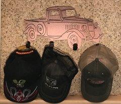 Truck Metal Hat Holder