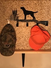 Hunting Metal Hat Holder