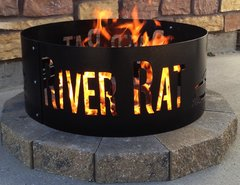 Metal River Rat Fire Ring
