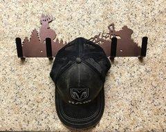 Deer Hunting Metal Hat Holder