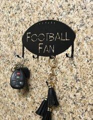 Football Fan Metal Key Holder