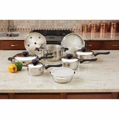 Chef's Secret® 15pc 12-Element T304 Stainless Steel Cookware