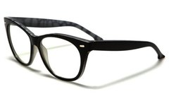 Retro Cat Eye Clear Lens Black Marble