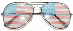 750 USA Flag Aviator Gunmetal Light Lens - 2 Pair