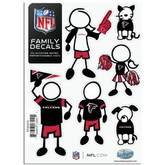 NFL Atlanta Falcons Small Family Decals