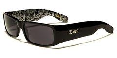 9006 Locs Black and Silver Bandana