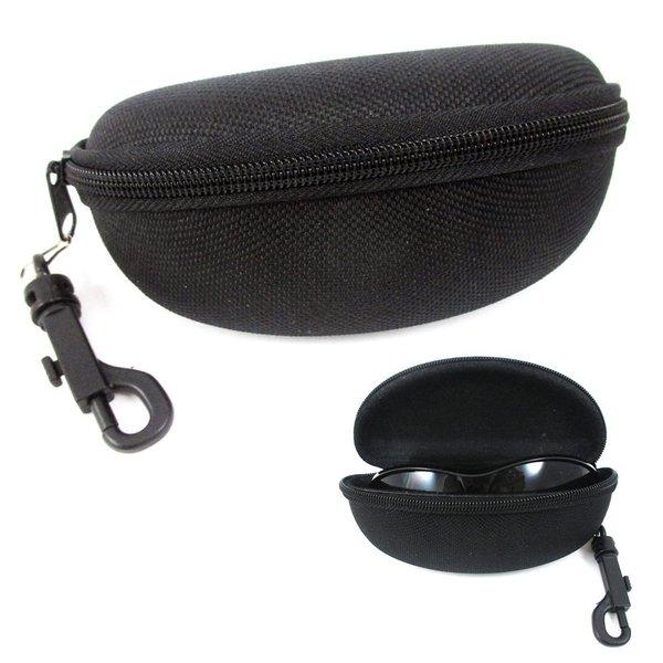 Black Textured Zipper Case Large