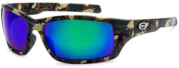 2450 XLoop Camo Green Blue Lens
