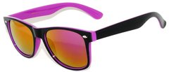 Retro Two-toned Black and Purple with REVO Lens