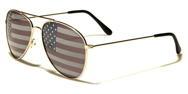 1028 USA Flag Aviator Gold