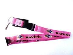 NFL Baltimore Ravens Pink Lanyard