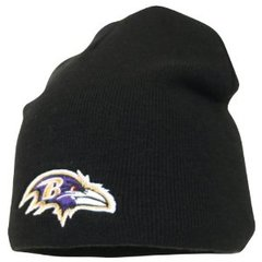 NFL Baltimore Ravens Black Beanie