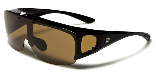 605 Barricade Fit-Over Black Brown Lens