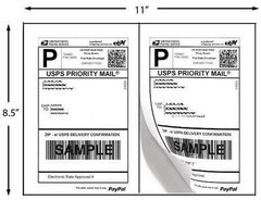 Shipping Labels – 100 Labels