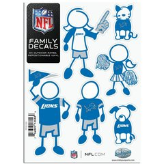 NFL Detroit Lions Small Family Decals
