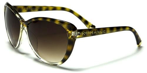 90011 Romance Large Cat Eye Clear Tortoise Shell
