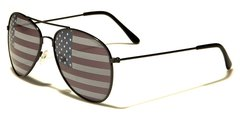 1028 USA Flag Aviator Black
