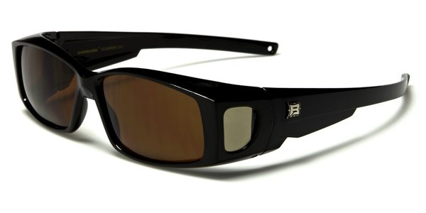 606 Barricade Fit-Over Black Brown Lens
