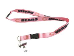 NFL Chicago Bears Pink Lanyard