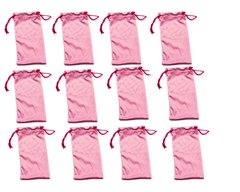 Microfiber Bags Pink Wholesale Dozen