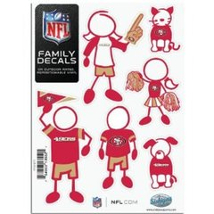 NFL San Francisco 49ers Small Family Decals