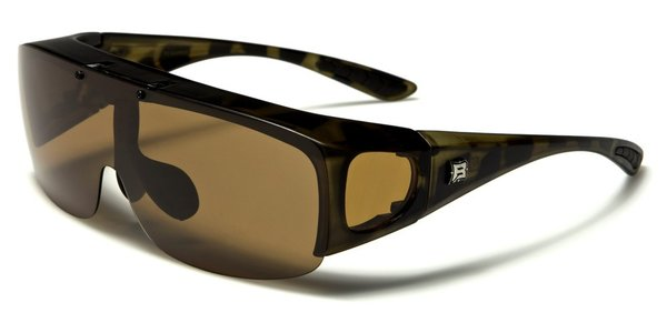 605 Barricade Fit-Over Tortoise Shell Brown Lens