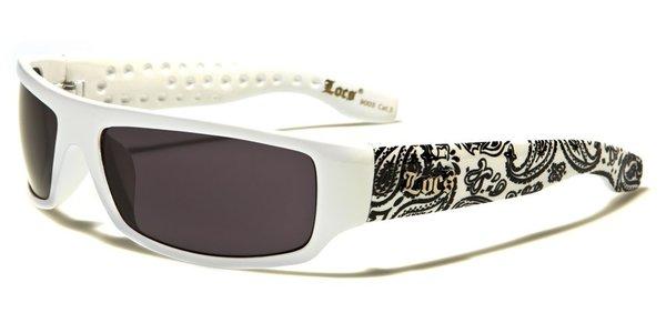 9003 Locs White and Black Bandana