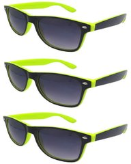 Retro Two-toned Black and Yellow - 3 Pair
