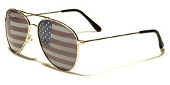 1028 USA Flag Aviator Gold