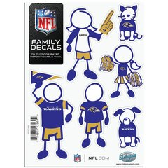 NFL Baltimore Ravens Small Family Decals