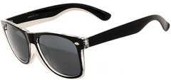 Retro Two-toned Black and Clear with Mirror Lens