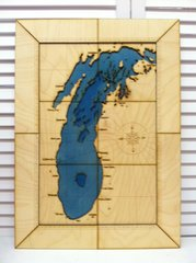 CUSTOM CARVED MAP small