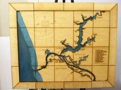 CUSTOM CARVED MAP Large