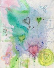 "Love Casting - 16"" X 20"" Acrylic painting"