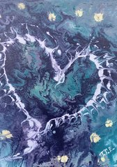 """Light Hearted - 9"""" X 12"""" Acrylic on canvas panel"""