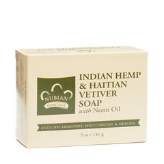 Nubian Heritage Indian Hemp & Haitian Vetiver Soap with Neem Oil