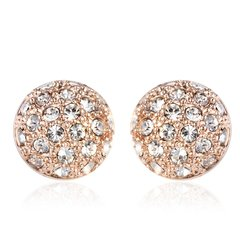 Ouxi Rose Gold Stud Hat Earrings Made With Crystals From Swaroski