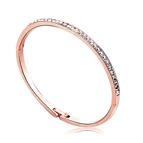 Ouxi Rose Gold Bangle Made With Crystals From Swarovski