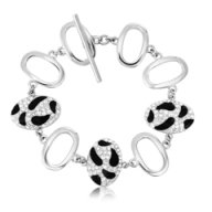Ouxi Fashion Leopard Bracelet Made With Crystals From Swarovski