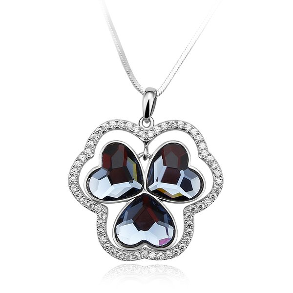 Zena Sterling Silver Necklace Made With Crystals From Swarovski