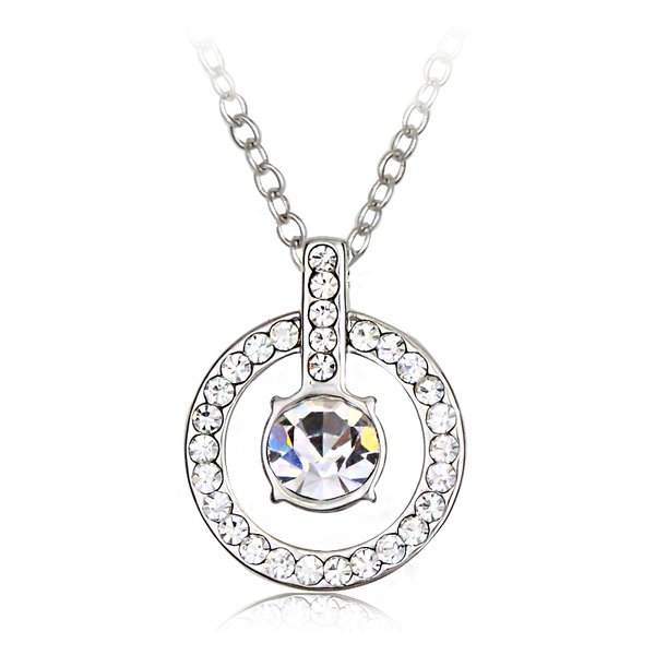 Ouxi Fashion Simply Crystal & Diamond Women Engagement Necklace Made With Crystals From Swarovski & Zircon