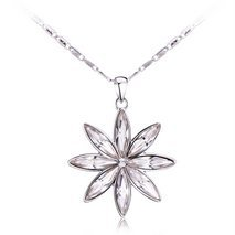 Ouxi Snow Pendant Necklace Made With Crystals From Swarovski
