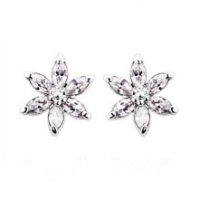 Ouxi Flower Ear Stud Earrings Made With Zircon Crystal
