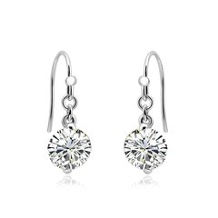 Zena 925 Sterling Silver Drop Earrings Made With Crystals From Swarovski