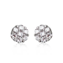 Ouxi 925 Sterling Silver Crystal Ball Earrings Made With Crystals From Swarovski