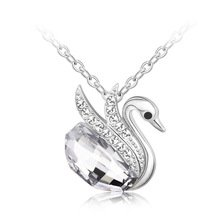 OUXI Swan Crystal Necklace Made with Crystals From Swarovski