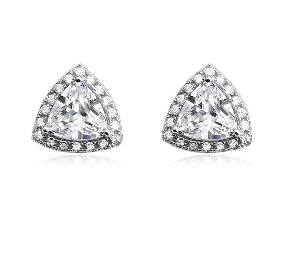 Zena 925 Sterling Silver Stud Earrings Made With Crystals From Swarovski