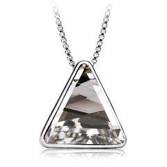 Zena Triangular Necklace Made With Crystals From Swarovski