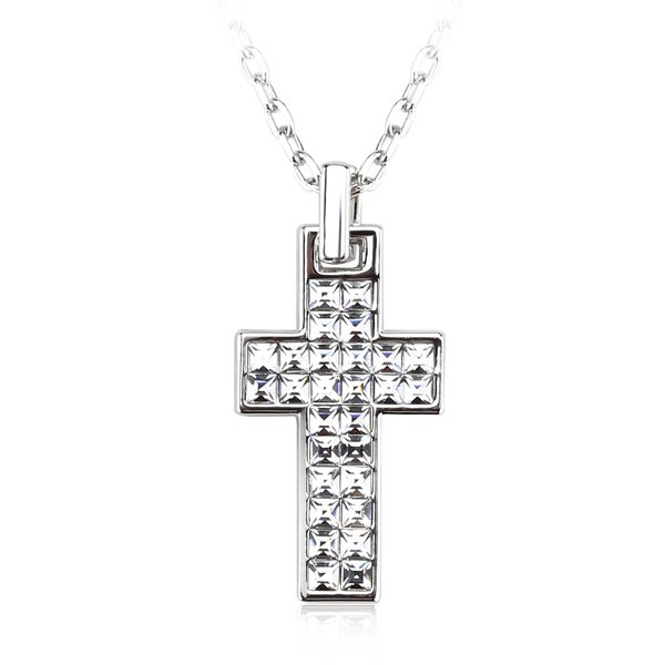 ZENA Cross Pendant Made With Crystals From Swarovski